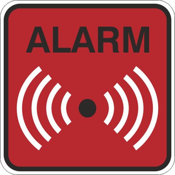 alarm skilt i rød
