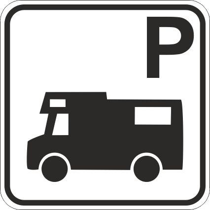 autocamper parkering skilt