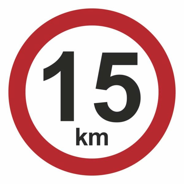 15 km/t hastighedsskilt