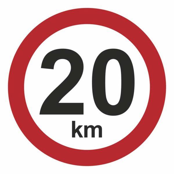 20 km/t hastighedsskilt