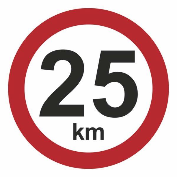 25 km/t hastighedsskilt