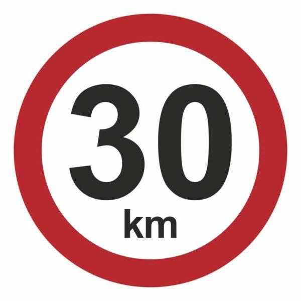 30 km/t hastighedsskilt